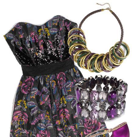 "Necklace, £15, <a target=""_blank"" href=""http://www.dorothyperkins.com/webapp/wcs/stores/servlet/TopCategoriesDisplay?storeId=12552&catalogId=20552"">Dorothy Perkins</a>&#x3B; dress, £59.99, <a target=""_blank"" href=""http://xml.riverisland.com/flash/content.php"">River Island</a>&#x3B; bracelet, £12, <a target=""_blank"" href=""http://www.dorothyperkins.com/webapp/wcs/stores/servlet/TopCategoriesDisplay?storeId=12552&catalogId=20552"">Dorothy Perkins</a>&#x3B;  shoes, £75, <a target=""_blank"" href=""http://www.office.co.uk/"">Office Vintage</a> <br />"