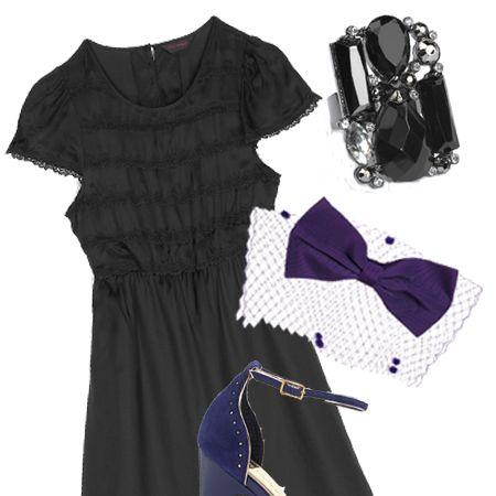 "Dress, £45, <a target=""_blank"" href=""http://www.missselfridge.com/webapp/wcs/stores/servlet/TopCategoriesDisplay?storeId=12554&catalogId=20555"">Miss Selfridge</a>&#x3B; shoes, £64.99, <a target=""_blank"" href=""http://xml.riverisland.com/flash/content.php"">River Island</a>&#x3B; headpiece, £32, Chapeau Claudette at <a target=""_blank"" href=""http://www.asos.com/"">Asos</a>&#x3B; ring, £5, <a target=""_blank"" href=""http://www.newlook.co.uk/navigation/homepage.aspx"">New Look </a><br />"