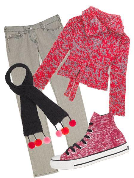 "Jeans, £145, C.r.a.f.t at <a target=""_blank"" href=""http://www.bunnyhug.co.uk/fashionshop/"">www.bunnyhug.co.uk</a>; cardigan, £35, <a target=""_blank"" href=""http://www.topshop.com/webapp/wcs/stores/servlet/TopCategoriesDisplay?storeId=12556&catalogId=19551"">Topshop</a>; scarf, £60, <a target=""_blank"" href=""http://www.emaharishi.com/"">Maharishi</a>; trainers, £34.99, <a target=""_blank"" href=""http://www.converse.com/"">Converse</a><br />"