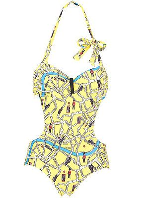"<p>We'll be feeling well patriotic on the beach with this London street map print swimsuit – totes</p> <p>Red or Dead street map swimsuit, £74.99, <a href=""http://www.newlook.com/shop/womens/swimwear/red-or-dead-yellow-street-map-cut-out-swimsuit_258832785"">New Look</a></p>"