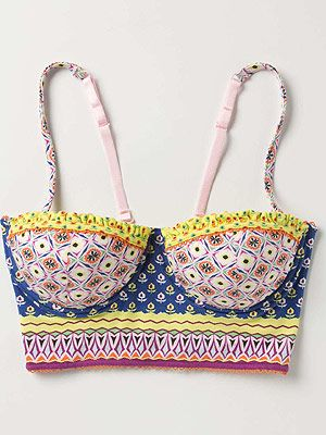 "<p>This pretty printed longline bra from Anthropologie is far too pretty to keep under wraps! Wear with high-waisted bottoms and lashings of bright lippy for this season's take on the sex bomb look. L.O.V.E.</p> <p>Vibrant prints bralet, £28, <a title=""http://www.anthropologie.eu/en/uk/lingerie/vibrant-prints-longline-bra/invt/7140600714021/&colour=Multi%20Motif"" href=""http://www.anthropologie.eu/en/uk/lingerie/vibrant-prints-longline-bra/invt/7140600714021/&colour=Multi%20Motif"" target=""_blank"">Antnropologie</a><br /><br /></p>"
