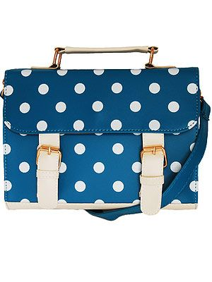 """<p>Just in case you haven't got down with the satchel trend yet (where have you been?), this cute polka-dot number has come to your rescue.</p><p>Florence satchel, £21, <a title=""""http://www.chelseadoll.co.uk/accessories/bags-purses/the-florence-satchel.html"""" href=""""http://www.chelseadoll.co.uk/accessories/bags-purses/the-florence-satchel.html"""" target=""""_blank"""">Chelsea Doll</a></p>"""