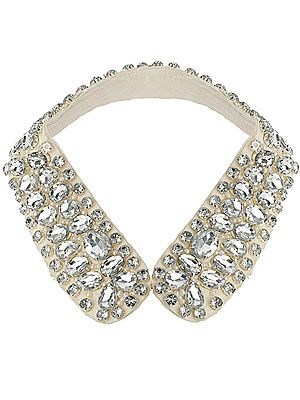 """<p>Magpie alert! We heart this sparkly collar from Topshop and we reckon it's the most on-trend way to add sparkle to a monochrome outfit.</p><p>Stone embellished shirt collar, £35, <a title=""""http://www.topshop.com/webapp/wcs/stores/servlet/ProductDisplay?beginIndex=41&viewAllFlag=&catalogId=33057&storeId=12556&productId=6141771&langId=-1&sort_field=Relevance&categoryId=208556&parent_categoryId=204484&pageSize=20&refinements=category~%5b210007%7C208556%5d&noOfRefinements=1"""" href=""""http://www.topshop.com/webapp/wcs/stores/servlet/ProductDisplay?beginIndex=41&viewAllFlag=&catalogId=33057&storeId=12556&productId=6141771&langId=-1&sort_field=Relevance&categoryId=208556&parent_categoryId=204484&pageSize=20&refinements=category~%5b210007%7C208556%5d&noOfRefinements=1"""" target=""""_blank"""">Topshop</a></p>"""
