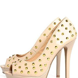 """<p>Wear studs the girly way with this nude pair of skyscraper heels. We'd love to see KMIddy in these...</p><p>Peep Toe Stud Heel, £44.99, <a title=""""http://www.axparis.co.uk/products/Peep-Toe-Stud-Heel.html"""" href=""""http://www.axparis.co.uk/products/Peep-Toe-Stud-Heel.html"""" target=""""_blank"""">AX Paris</a><br /><br /></p>"""