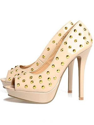 "<p>Wear studs the girly way with this nude pair of skyscraper heels. We'd love to see KMIddy in these...</p> <p>Peep Toe Stud Heel, £44.99, <a title=""http://www.axparis.co.uk/products/Peep-Toe-Stud-Heel.html"" href=""http://www.axparis.co.uk/products/Peep-Toe-Stud-Heel.html"" target=""_blank"">AX Paris</a><br /><br /></p>"