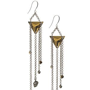 """<p>If run-of-the-mill chadelier earrings are too girly for you, prepare to hang tough with this edgy pair from Eastern Mystic, featuring chains, triangles and skulls. Gothic glam at it's finest.<br />Deco skull chadleier earrings, £98, <a title=""""http://www.easternmystic.com/Earrings/c67/p228/Deco-Skull-Chandelier-Earrings/product_info.html"""" href=""""http://www.easternmystic.com/Earrings/c67/p228/Deco-Skull-Chandelier-Earrings/product_info.html"""" target=""""_blank"""">Eastern Mystic</a><br /><br /></p>"""