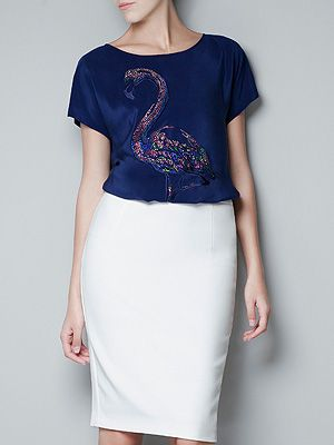 "<p>We ooh-la-LOVE this gorge swan print silk T-shirt from Zara. Wear to work tucked into a pencil skirt, or smarten up your off-duty look when teamed with jeans. Whatever you choose, you'll certainly be swanning around in style.</p> <p>Printed silk T-shirt, £39.99,<a title=""http://www.zara.com/webapp/wcs/stores/servlet/product/uk/en/zara-W2012/269189/894528/PRINTED%20SILK%20T-SHIRT "" href=""http://www.zara.com/webapp/wcs/stores/servlet/product/uk/en/zara-W2012/269189/894528/PRINTED%20SILK%20T-SHIRT%20"" target=""_blank""> Zara</a><br /><br /></p>"