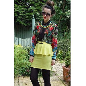 <p>Everyday is dress-up day for Arabella from Bloxham! Her eccentric style is captured here in the form of fabulous florals, attention grabbing neons and a so-on-trend peplum. VO5 love the ballet inspired top knot which showcases Arabella's caramel highlights perfectly.</p>