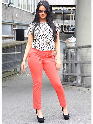 """<p>Demi from Stockton-on-Tee creates a smart but sassy look with her monochrome blouse, high-waist coral trousers and obligatory towering heels. VO5 salutes her frizz-free luscious dark locks, the ultimate accompaniment to such sleek style.</p> <p>CLICK <a title=""""Cosmo and VO5 Style Search"""" href=""""Visit%20cosmopolitan.co.uk/cosmoV05style"""" target=""""_blank"""">HERE</a> TO ENTER THE COSMO & VO5 STYLE SEARCH NOW!</p>"""
