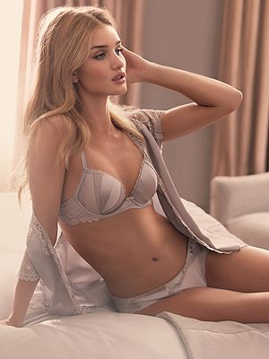"<p>Rosie Huntington-Whiteley looks ah-maz-ing in her Rosie for Autograph Collection.  She said: ""I was particularly drawn to the opulent elegance of the 20s era which really shows in my designs from the sumptuous silks. I chose tho intricate deco inspired embroidery detailing on the garments.""</p>