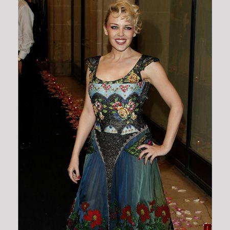 Is Kylie's take on florals a bit OTT? Or is this eclectically patterned dress a style success?<br />