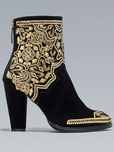 "<p>These Balmain-inspired brocade boots are so hip it practically hurts! We spotted lots of fashion editors rocking embroidered black and gold combos at Somerset House this season.</p> <p>Embroidered boots, £99.99, <a title=""http://www.zara.com/webapp/wcs/stores/servlet/product/uk/en/zara-W2012/287002/958505/GOLD%20EMBROIDERED%20HIGH-HEEL%20ANKLE%20BOOT "" href=""http://www.zara.com/webapp/wcs/stores/servlet/product/uk/en/zara-W2012/287002/958505/GOLD%20EMBROIDERED%20HIGH-HEEL%20ANKLE%20BOOT%20"" target=""_blank"">Zara</a></p> <p><a title=""http://cosmopolitan.co.uk/fashion/celebrities-at-london-fashion-week-ss13?click=main_sr"" href=""http://cosmopolitan.co.uk/fashion/celebrities-at-london-fashion-week-ss13?click=main_sr"" target=""_blank"">SEE THE CELEBS ON THE FRON ROW OF LFW</a></p>"