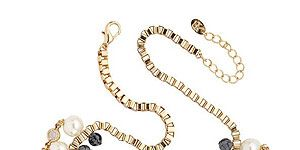 """<p>This uh-maze statement necklace is a real show stopper - without breaking the bank. Wear with simple separates to totes amp up your look.</p> <p>Kate Benjamin spiked necklace, £12 (from £40), <a title=""""http://www.accessoriesdirect.com/kate-benjamin-gold-tone-spike-beaded-necklace/ """" href=""""http://www.accessoriesdirect.com/kate-benjamin-gold-tone-spike-beaded-necklace/%20"""" target=""""_blank"""">Accessories Direct</a><br /><br /></p>"""