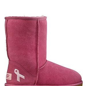 """<p>We literally went crazy over these pink ribbon-embroidered UGG boots! With UGG Australia launching a limited-edition pink pair of classic short boots for October and donating £10 to UK breast cancer charity The Haven, why not splurge a little on these comfy booties for the winter?</p><p>The classic short, £165, <a href=""""http://www.uggaustralia.com/womens-classic-short-cancer-awareness-boot/3410,default,pd.html?dwvar_3410_color=RSPR&start=1&q=breast%20cancer"""" target=""""_blank"""">uggaustralia.co.uk </a></p>"""