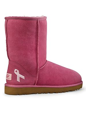"<p>We literally went crazy over these pink ribbon-embroidered UGG boots! With UGG Australia launching a limited-edition pink pair of classic short boots for October and donating £10 to UK breast cancer charity The Haven, why not splurge a little on these comfy booties for the winter?</p> <p>The classic short, £165, <a href=""http://www.uggaustralia.com/womens-classic-short-cancer-awareness-boot/3410,default,pd.html?dwvar_3410_color=RSPR&start=1&q=breast%20cancer"" target=""_blank"">uggaustralia.co.uk </a></p>"