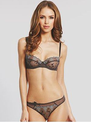"""<p>With gorgeous vintage style lace, this delicate bra oozes sex appeal but without being too obvious. It feels great against your skin and makes you feel pretty from the inside out. Pair with matching White Nights G-string, your man will be begging you for more.</p> <p>Passionata White Nights Balconette <a href=""""http://www.figleaves.com/uk/product/PAA-4065/Passionata-White-Nights-Balconette-Bra/?size=&colour=Greys"""">bra</a>, £34, and White Nights <a href=""""http://www.figleaves.com/uk/product/PAA-4067/Passionata-White-Nights-String/?size=&colour=Greys"""">g-string</a>, £19, Figleaves</p>"""