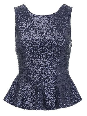 "<p>Lipsy give good going out gear, and this sequinned number is no exception! Get set to dazzle on an evening out with this shimmering style in a gorge midnight blue hue. L.O.V.E.</p> <p>Lipsy Sequin Peplum Top, £38, <a title=""Next"" href=""http://www.next.co.uk/gl92008s1"" target=""_blank"">Next</a> </p>"