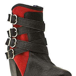 """<p>Black and red 'Nancy' boots, £100, Red or Dead at <a href=""""http://www.schuh.co.uk/womens-black-and-red-red-or-dead-nancy-ankle-boot/1473627320"""" target=""""_blank"""">Schuh</a></p>"""