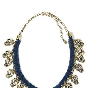 """<p>Halloween is a-coming, but here's a frightfully fabulous necklace you can wear all year round, courtesy of Zara - and the price won't give you a fright, either...</p><p>Skull necklace, £15.99, <a title=""""http://www.zara.com/webapp/wcs/stores/servlet/product/uk/en/zara-neu-W2012/287002/968502/"""" href=""""http://www.zara.com/webapp/wcs/stores/servlet/product/uk/en/zara-neu-W2012/287002/968502/"""" target=""""_blank"""">Zara</a><br /><br /></p>"""