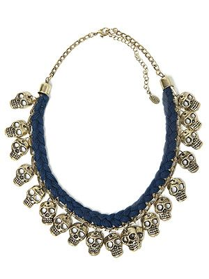 "<p>Halloween is a-coming, but here's a frightfully fabulous necklace you can wear all year round, courtesy of Zara - and the price won't give you a fright, either...</p> <p>Skull necklace, £15.99, <a title=""http://www.zara.com/webapp/wcs/stores/servlet/product/uk/en/zara-neu-W2012/287002/968502/"" href=""http://www.zara.com/webapp/wcs/stores/servlet/product/uk/en/zara-neu-W2012/287002/968502/"" target=""_blank"">Zara</a><br /><br /></p>"