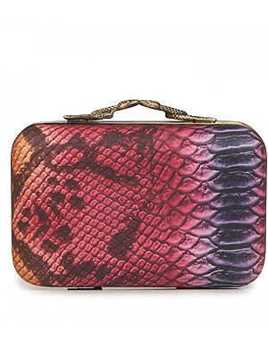 "<p>This multi coloured snake print box clutch by that clever Nicole Richie is TDF (To Die For)!</p> <p>House of Harlow 1960 leather box clutch, £195, <a title=""http://www.harveynichols.com/womens/categories-1/designer-bags/clutches/s427637-marley-leather-box-clutch.html?colour=MULTICOLOURED "" href=""http://www.harveynichols.com/womens/categories-1/designer-bags/clutches/s427637-marley-leather-box-clutch.html?colour=MULTICOLOURED%20"" target=""_blank"">Harvey Nichols</a><br /><br /></p>"