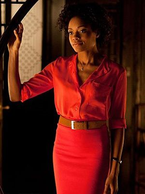 "<p>Naomie Harris plays Eve, an assistant at the MI6 office that gets into a pretty close shave (literally) with Daniel Craig in the latest James Bond film, Skyfall. Watch her try to shoot a moving target without flinching!</p> <p><strong>Secret pro tip</strong>: Although it was super hot watching Daniel Craig shave with a knife, being traditional with your hair removal might not be so sexy these days. The new <a href=""http://www.boots.com/en/Gillette-Venus-Naked-Skin-designed-by-Braun-Intense-Pulsed-Light-Hair-Reduction-System_1262160/"" target=""_blank"">Gillette Venus Naked Skin</a> gradually breaks the cycle of hair re-growth while you sleep. Now that's something we don't mind waking up to!</p>"