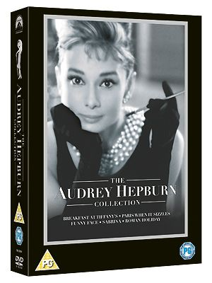 "<p>Audrey Hepburn is the ultimate film star icon. This collection includes Breakfast At Tiffany's, Roman Holiday, Paris When It Sizzles, Sabrina and Funny Face.<br /><br />The Audrey Hepburn DVD Collection, £20.09, Paramount, <a href=""http://www.play.com/DVD/DVD/4-/900831/The-Audrey-Hepburn-Collection-Breakfast-At-Tiffany-Roman-Holiday-Paris-When-It-Sizzles-Sabrina-Funny-Face/Product.html?searchstring=the+audrey+hepburn+collection&searchsource=0&searchtype=allproducts&urlrefer=search"" target=""_blank"">Play.com</a></p>"