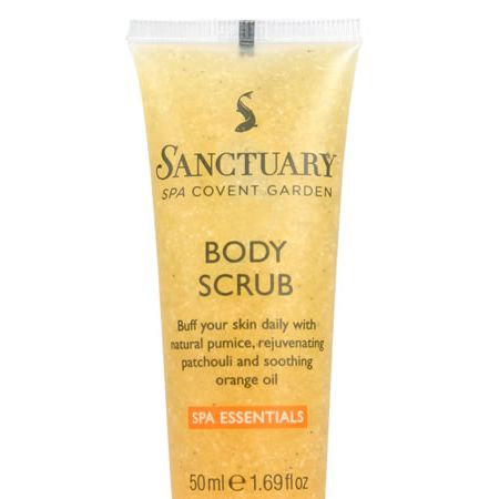 """<p>""""Is really nice on skin, makes you feel so clean and leaves you with soft skin. Is great for pre tan scrub. I love it!""""<strong> Nominated by ★emma★</strong><br /></p><p><br />£4.88, <a target=""""_blank"""" href=""""http://www.thesanctuary.co.uk/body-scrub-details.htm"""">www.thesanctuary.co.uk</a> </p><p> </p><p>Tell us about your <a href=""""chatroom/forum/48"""">favourite beauty products here</a> </p>"""