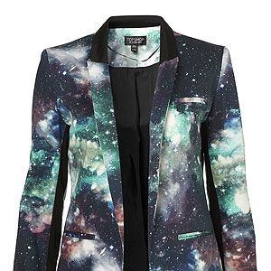 <p>Intergalactic! Planetary! Planetary! Intergalactic! Do a spot of star gazing the stylish way with this uhh-mazing printed blazer from Toppers. Who knew smart tailoring could be so fun?</p>