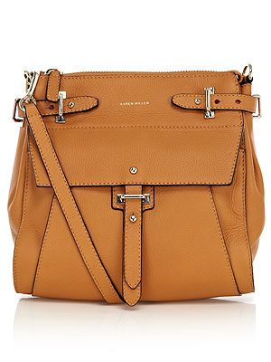 """<p>Who doesn't love a satchel bag? Sling it over you for hands-free style. This caramel-coloured squishy number from Karen Millen has chic silver fittings and an adjustable strap. Little bit in love...</p> <p>Tan satchel, £170, <a title=""""http://www.karenmillen.com/luxury-leather-large-satchel/springpreview/karenmillen/fcp-product/492GQ07022"""" href=""""http://www.karenmillen.com/luxury-leather-large-satchel/springpreview/karenmillen/fcp-product/492GQ07022"""" target=""""_blank"""">Karen Millen</a></p>"""