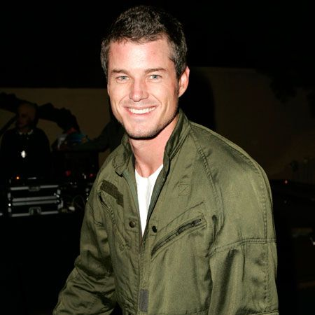 Flying high in the fit stakes in a khaki jacket back in 2004, Eric teases us with that gorgeous grin - this man oozes sex appeal  <br />