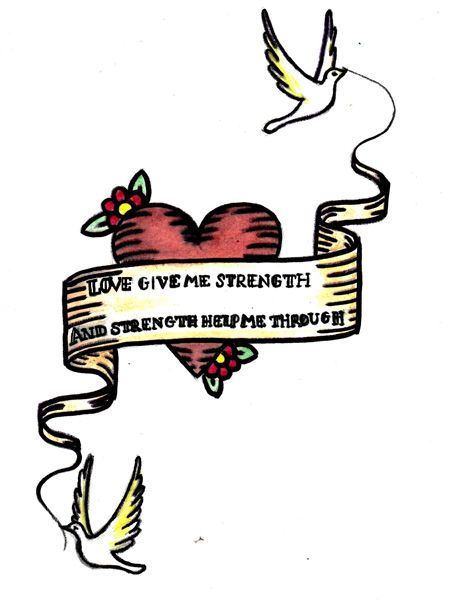 """By Alice Evans, 20, who is a studying biology at university<br /><br /><strong>In her own words:</strong> """"This design was inspired by the quote from Romeo and Juliet when Juliet is planning her family to recklessly elope with Romeo. Love can give one person so much strength, whether it is from family, friend or lover, it is what makes us human, what gives us meaning to life, and the strength to get through what we have to face. The birds signify the freedom that the strength from love gives us.""""<br />"""