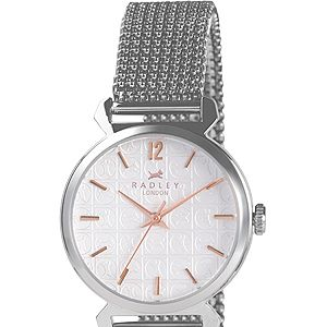 <p>This stainless steel watch is super stylish with its sleek expandable bracelet. There's even the signature Radley dog on the face, obvs.</p>