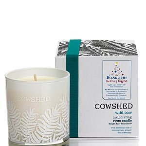 "<p>Who can resist the smell of an invigorating candle. Cowshed are donating £1.50 from every 'Wild Cow' Room Candle sold in John Lewis, to the national children's charity Starlight. N'aww.<br /><br />'Wild Cow' Room Candle, £30, <a href=""http://www.johnlewis.com/231692106/Product.aspx"" target=""_blank"">Cowshed</a></p>