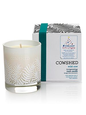 "<p>Who can resist the smell of an invigorating candle. Cowshed are donating £1.50 from every 'Wild Cow' Room Candle sold in John Lewis, to the national children's charity Starlight. N'aww.<br /><br />'Wild Cow' Room Candle, £30, <a href=""http://www.johnlewis.com/231692106/Product.aspx"" target=""_blank"">Cowshed</a></p> <p> </p> <p> </p>"