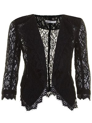 """<p>Dare black lace London blazer, £59, <a title=""""Darling"""" href=""""http://www.darlingclothes.com/product/beloved/london-blazer/4432/%20"""" target=""""_blank"""">Darling </a></p>"""