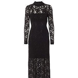 "<p>Gestuz black lace long dress (as seen on Mollie King!, £195, <a title=""Harvey Nichols"" href=""http://www.harveynichols.com/womens/categories-1/designer-dresses/evening/s424000-lace-gown.html?colour=BLACK"" target=""_blank"">Harvey Nichols </a></p>"