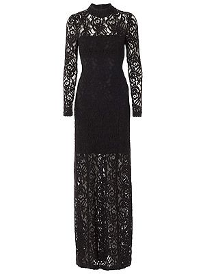"""<p>Gestuz black lace long dress (as seen on Mollie King!, £195, <a title=""""Harvey Nichols"""" href=""""http://www.harveynichols.com/womens/categories-1/designer-dresses/evening/s424000-lace-gown.html?colour=BLACK"""" target=""""_blank"""">Harvey Nichols </a></p>"""