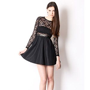 "<p>Black lace and leather dress, £40, <a title=""Yayer.co.uk"" href=""http://www.yayer.co.uk/product/lace-and-leather-dress%20"" target=""_blank"">Yayer</a></p>"
