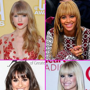 <p>Feel like doing something different with your hair, but too afraid to go for the chop? Maybe try just trimming your bangs? Check out all the celebrities that played with their front fringe!</p>