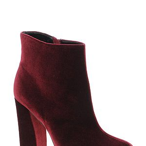 """<p>Tick off two fashion trends on one - velvet and oxblood red - in these decadent ankle boots.</p><p>APOLLO velvet ankle boots, £55, <a title=""""Asos.com"""" href=""""http://www.asos.com/ASOS/ASOS-APOLLO-Ankle-Boots/Prod/pgeproduct.aspx?iid=2266447&cid=16122&sh=0&pge=0&pgesize=-1&sort=-1&clr=Oxblood"""" target=""""_blank"""">ASOS</a></p>"""