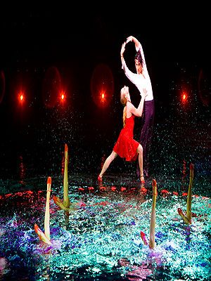"<p>The big Las Vegas shows average around $30 to $40 million to produce, which explains the jaw-dropping, breath-taking, cling-to-the-edge-of-your-seat type stuff that gets made. Le Reve is no exception. Set in a large pool of water in the middle of an amphitheater at the Wynn Las Vegas hotel, it features diving feats that make the hairs on the back of your neck stand on end. Actors with no breathing equipment suddenly disappear under the water, a flock of (real!) birds fly across the stage and over the audience. Le Reve, which translates as 'The Dream' in French, is exactly that; a beautiful, crazy, dream-like experience that'll have you flailing around in the pool the next day in an attempt to recreate the magic. Tickets start at $105.</p> <p><a title=""http://wynnlasvegas.com/lereve"" href=""http://wynnlasvegas.com/lereve"" target=""_blank"">Le Reve</a></p>"