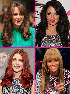 <p>Thinking of a new haircut? Look to the red-carpet for some gorgeous hairstyles, from hot red hair to a blunt fringe.</p>
