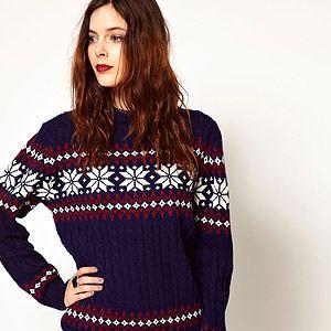 "<p>Pop Boutique Snowflake Knitted Jumper, £36, <a title=""Asos.com"" href=""http://www.asos.com/Pop-Boutique/Pop-Boutique-Snowflake-Knitted-Jumper/Prod/pgeproduct.aspx?iid=2696751&cid=2637&sh=0&pge=0&pgesize=200&sort=-1&clr=Navy%20"" target=""_blank"">ASOS</a></p>"