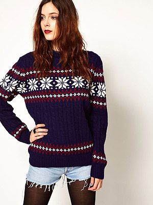 "<p>Pop Boutique Snowflake Knitted Jumper, £36, <a title=""Asos.com"" href=""http://www.asos.com/Pop-Boutique/Pop-Boutique-Snowflake-Knitted-Jumper/Prod/pgeproduct.aspx?iid=2696751&cid=2637&sh=0&pge=0&pgesize=200&sort=-1&clr=Navy%20"" target=""_blank"">ASOS</a></p>"