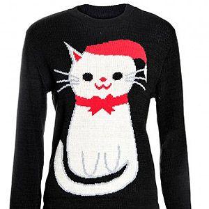 "<p>Santa Cat Christmas jumper, £14.99, <a title=""FD Avenue"" href=""http://www.fdavenue.com/products/Santa-Cat-Print-Jumper-In-Black.html"" target=""_blank"">FD Avenue</a></p>"