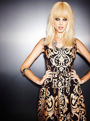 <p>Dress, £75, Asos. Necklace, £270, Miquella. Cuff, £12.50, Freedom at Topshop</p>