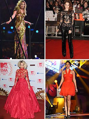 <p>Okay 2012, it's a wrap! It's been monochrome manic on the red-carpet this year, with celebrities rocking white-and-black ensembles with peek-a-boo bits. Lace and sequins also rocked the show, from full-length gowns to sexy catsuits.</p> <p>Before we say good-bye to another awesome year, let's take a look at the celebrity best-dressed.</p>