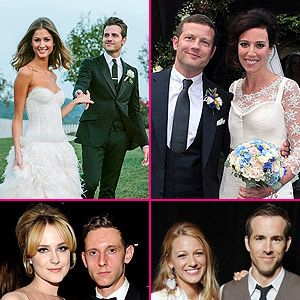 <p>It's almost the end of 2012, and what a fantastic year it was! Whether it's Blake Lively and Ryan Reynolds' shot-gun wedding or Justin Timberlake and Jessica Biel's Italian love affair, we couldn't get enough of all the celebrity weddings this year!</p><p>Let's take a trip down memory lane and see the star-studded A-list couples that walked down the aisle. Check out Cosmo's round-up of the hottest celebrity weddings for year 2012.</p>