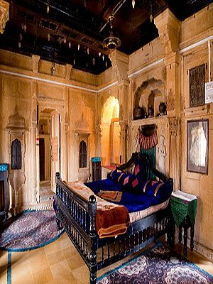 "<p>You can't fault the views from the rooftop terrace of this 450-year-old family haveli, sweeping across the ancient honey-coloured fort in which it lies. Getting there is an adventure, on foot through a maze of narrow lanes, dodging people and animals. Inside, the five pillared and balconied rooms furnished with rich silks, velvets, ornately carved stonework and faded photographs will have you tweeting like mad. There's no restaurant, but the owners run a well-regarded vegetarian eatery nearby and its menu of tasty dishes is available through room service. When it comes to sightseeing, it's within easy reach of ancient Jain temples and amazing Jaisalmer's City Palace.<br /><em></em></p> <p><em>Double rooms from £29 per night, based on 2 sharing and including breakfast and tax.</em><br /> </p> <p><a title=""http://www.i-escape.com/hotel-shreenath-palace/overview"" href=""http://www.i-escape.com/hotel-shreenath-palace/overview"" target=""_blank""><strong>Hotel Shreenath Palace, Jaisalmer, Rajasthan, India</strong></a></p> <p> </p>"